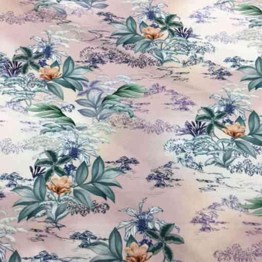 Gabardine de coton fleurs de lys 1
