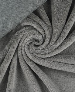 Tissu éponge bambou hydrophile gris