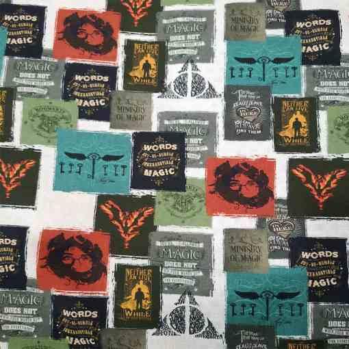 Tissu coton Harry Potter magic