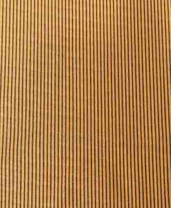 Tissu polyester rayure ton or