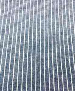 Tissu lin rayure marine