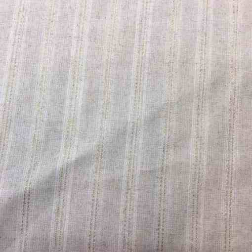 Tissu lin rayure rose pale