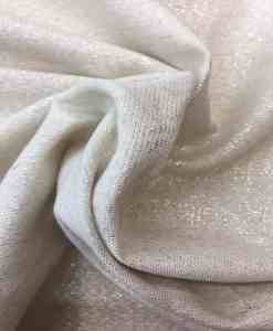 Tissu lin viscose blanc lamé