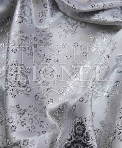 lurex jacquard white and silver