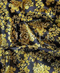 Lurex Jacquard schwarz und gold