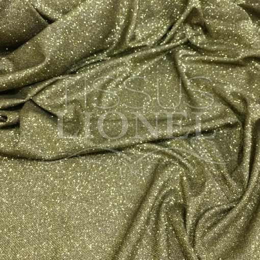 Jersey lamé polyester nid d'abeilles noir et or
