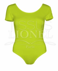 Lycra bright neon yellow