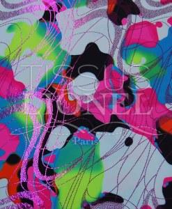 lycra imprimé pailleté 037 LIP