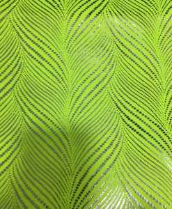 Lycra printed zizag glittery neon yellow
