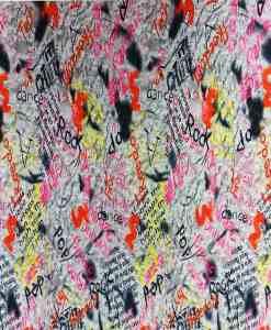 Lycra imprimé pop rock gris