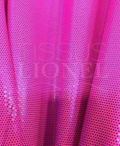 Lycra glittery neon pink glittery blue background