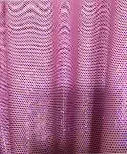 Lycra pailleté fond rose pâle pailleté fuschia hologramme