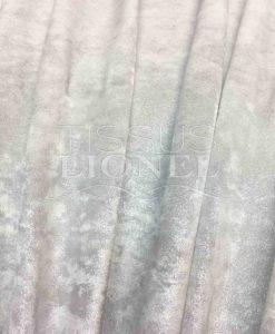 Lycra velours poudré blanc