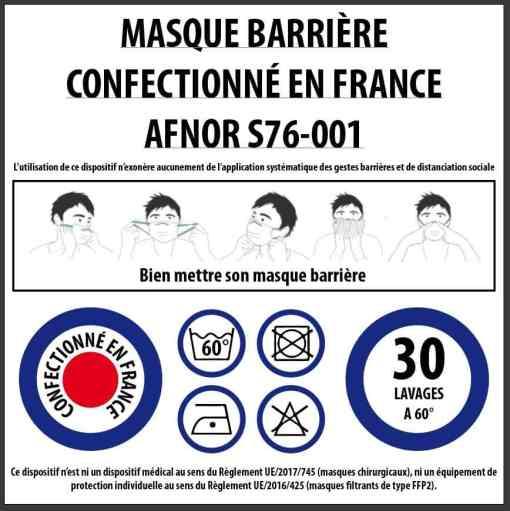 Masque afnor S76-001
