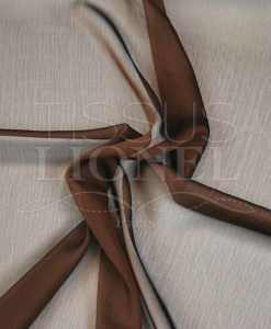 mousseline changeante deux files marron