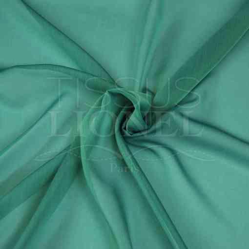 mousseline changeante deux files vert d'eau