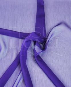 mousseline changeante deux files violet