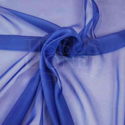 mousseline uni bleu royal