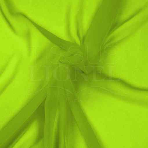 mousseline uni jaune fluo