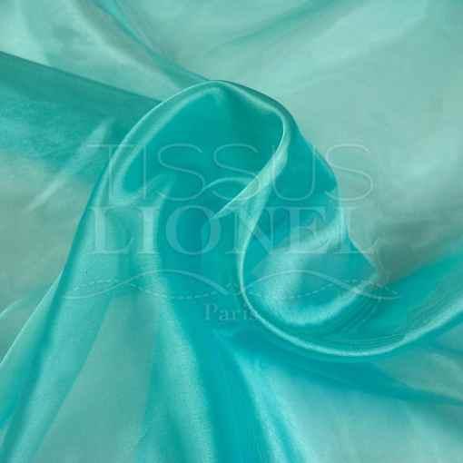 organza uni turquoise clair