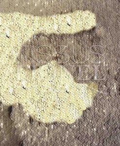 pailleté magique beige et or mat