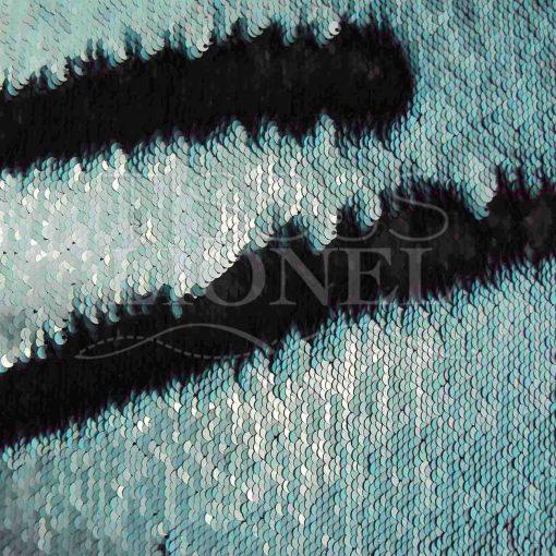 pailleté magique turquoise et noir mat