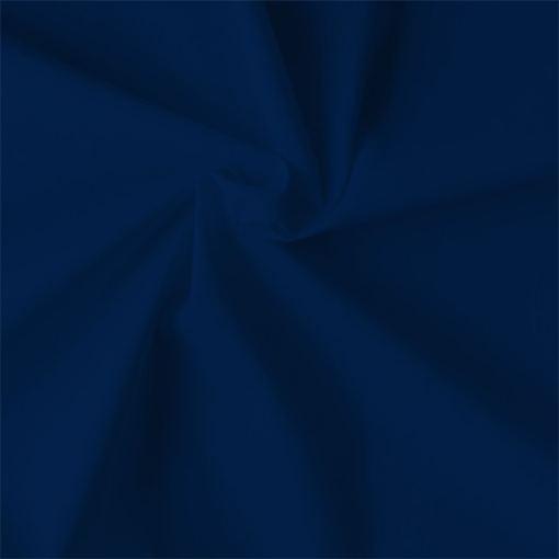 Popeline de coton bio bleu marine