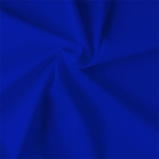 Popeline de coton bio bleu royal
