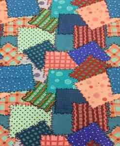 Popeline de coton patchwork colorés clair