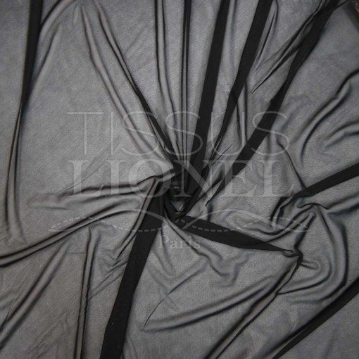 Lycra résille double noir