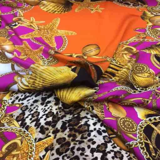 Satin de soie haute couture baroque