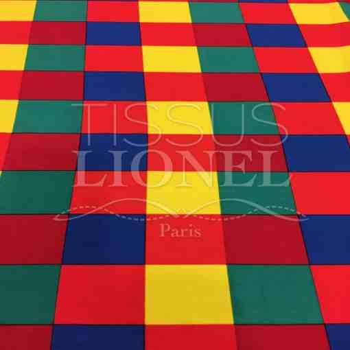 Tissu Burlington arlequin 5 couleurs foncé