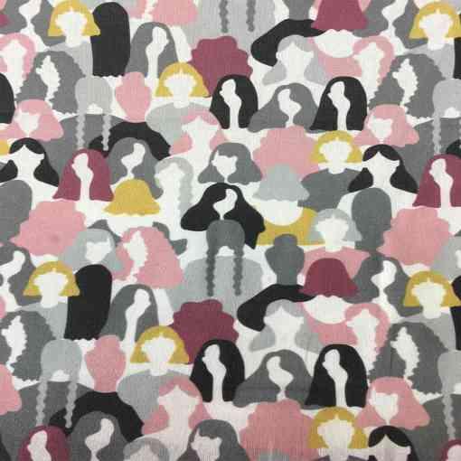 Tissu coton bio motif imprimé women