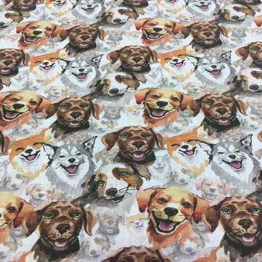 Tissu coton chien