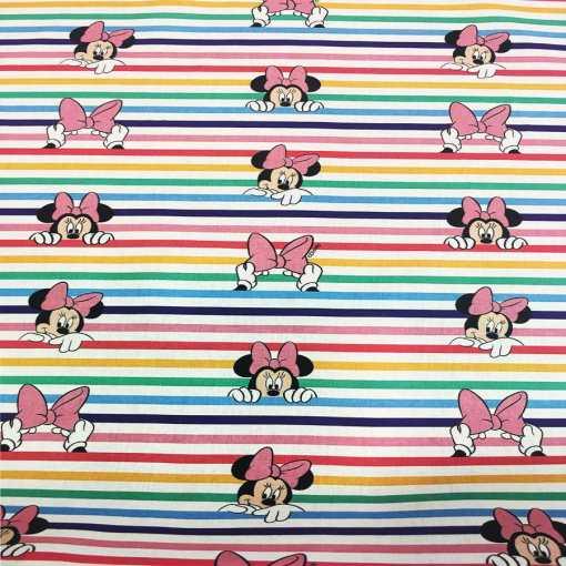 Tissu coton disney minnie multicolors
