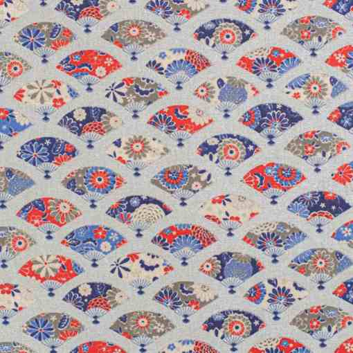 Tissu coton eventail-japonais