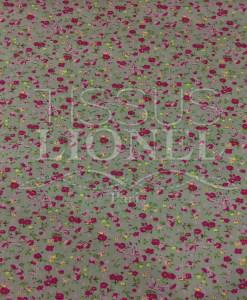 pattern printed cotton fabric dark gray flowers