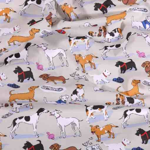 Tissu coton imprimé chien