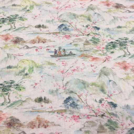 Tissu coton lac japonnais
