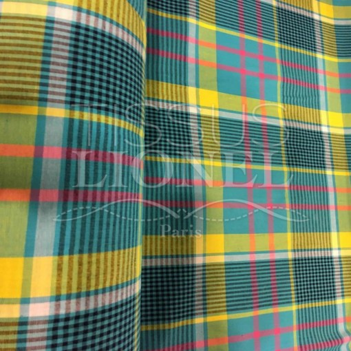 Tissu coton madras 062