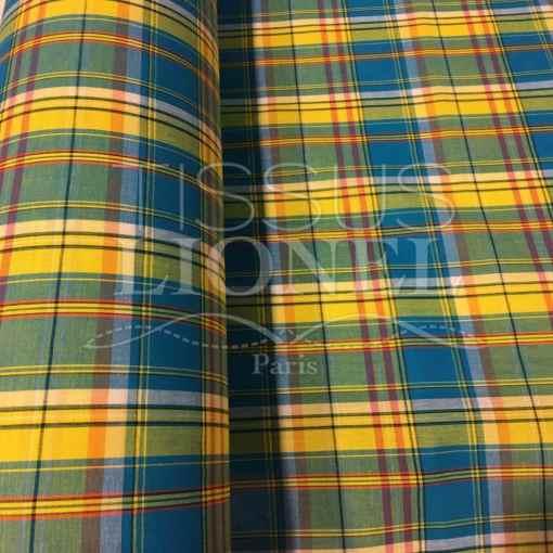 Tissu coton madras 063