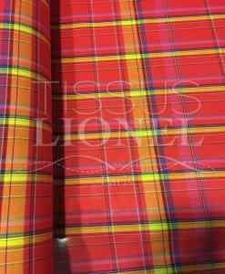 Tissu coton madras 069