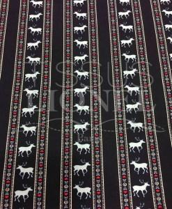 Tissu coton marine motif imprimé cerf