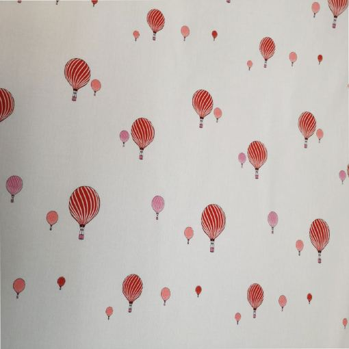 Tissu coton montgolfière rouge