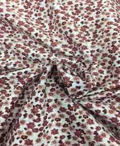 Tissu coton motif fleuris bordeaux