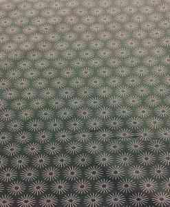 Tissu coton motif soleil olive