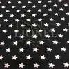 Tissu coton noir motif imprimé étoile blanc