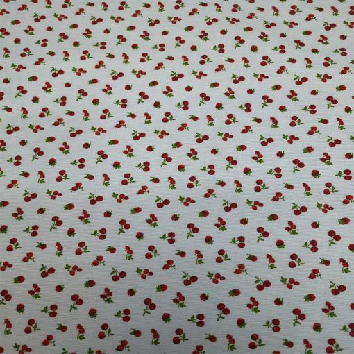 Tissu coton petite cerise