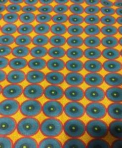 Tissu coton style Wax Africain batik jaune
