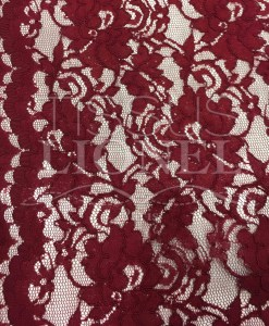 lace scalloped sewing fabric bordeaux